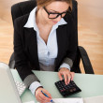 podnikatelka, práce v kanceláři — Stock fotografie