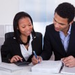 Two Business Doing Finance Work — Stock Photo #24592507