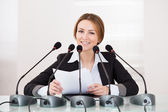 Businesswoman In Conference — Stock Photo