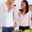 Young Couple Drinking Wine — Stock fotografie #24963693
