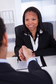Two Business Colleague Shaking Hand — Stock Photo