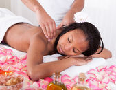 Woman Receiving Massage At Spa — Stock Photo