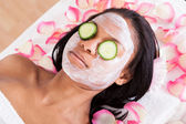 Facial Mask Of Woman — 图库照片