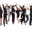 Stock Photo: Group of excited business