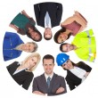 Low angle view of diverse professional group — Foto Stock