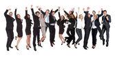Groep van opgewonden bedrijf — Stockfoto