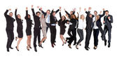 Group of excited business — Foto de Stock