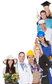 Group of representing diverse professions — Photo