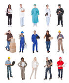 Professional workers, businessman, cooks, doctors, — Foto Stock