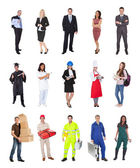 Akademische berufe, kaufmann, köche, ärzte, — Stockfoto