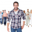 Casual group of standing over white — Stock Photo #25452289