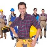 Retrato de trabajadores industriales felices — Foto de Stock