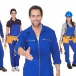 Group of automechanics — Stock Photo