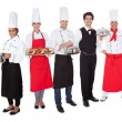 Group of chef and waiters - Stock Photo