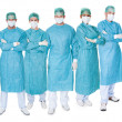 Group of surgeons over white — Stock Photo