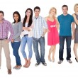 Casual group of standing over white — Stock Photo