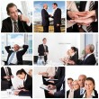 Set of various business images — Foto Stock