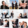Set of various business images — Stockfoto