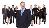Lineup of business executives or partners — Stock Photo