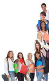 Large group of female students — Stock Photo