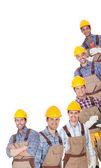 Porträtt av glad industriarbetare — Stockfoto