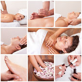 Collection of spa images — Stock Photo