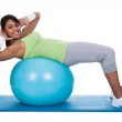 Woman Exercising On Pilates Ball — Stock Photo #25804373