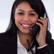 Young Woman Talking On Telephone — Stock Photo #25804421