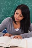 女子学生の勉強の肖像画 — ストック写真