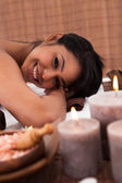 Young Woman Relaxing In A Spa — Stock Photo