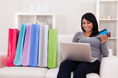Young Woman Shopping Online — Stock Photo