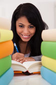 Portrait Of Young Woman Studying — Stock Photo