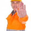 Man Showing Stop Sign — Stock Photo #26667267