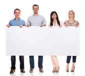 Group Of Friends Holding Placard — Stockfoto