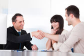 Consultant Shaking Hands With A Man — Stock Photo