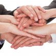 Businesspeople Stacking Their Hands Together — Stock Photo #27055051