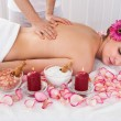 Woman getting spa treatment — Stock Photo #27055425