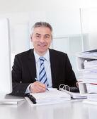 Mature Businessman At Work — Stock Photo