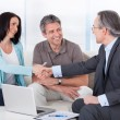 Consultant Shaking Hand With Woman — Stock Photo #27486357