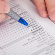 Filling Application Form — Stock Photo