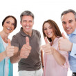 Group Of Happy Showing Thumb Up Sign — Stock Photo #27486591