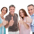 Group Of Happy Showing Thumb Up Sign — Stock Photo