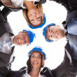 Happy Architects Making Huddle — Stock Photo #27487011