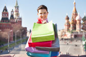 Young woman with shopping bags — Стоковое фото