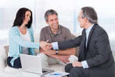 Consultant Shaking Hand With Woman — Stock Photo