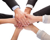 Businesspeople Stacking Their Hands Together — Stock Photo
