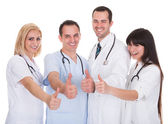 Group Of Doctors With Thumb-up Sign — Stock Photo