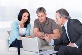 Couple Meeting Consultant — Stock Photo
