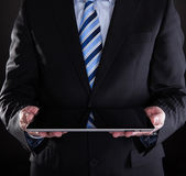 Close-up Of Businessman Using Digital Tablet — Foto de Stock