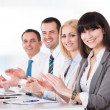 Happy Business Clapping — Stock Photo